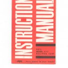 Vintage Skil Model 577 Recipro Saw Instruction Manual Not PDF