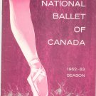 National Ballet Of Canada 1962 1963 Season Souvenir Program With Insert