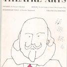 Theatre Arts Magazine August 1961 Vintage