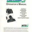Cub Cadet Chipper Shredder Vacuum Owners Manual Model CSV24 CSV240 Not PDF