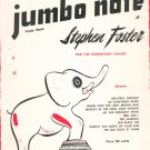 For The Elementary Pianist Jumbo Note Music Book by Stephen Foster Vintage