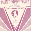 Vintage Merry Widow Waltz Song Sheet Music With Guitar Chords Morris Music