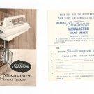 Vintage Sunbeam Mixmaster Hand Mixer Recipe & Instruction Book With Warranty Card Cookbook
