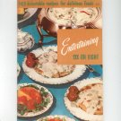 Entertaining Six Or Eight Cookbook 115 Vintage Culinary Arts
