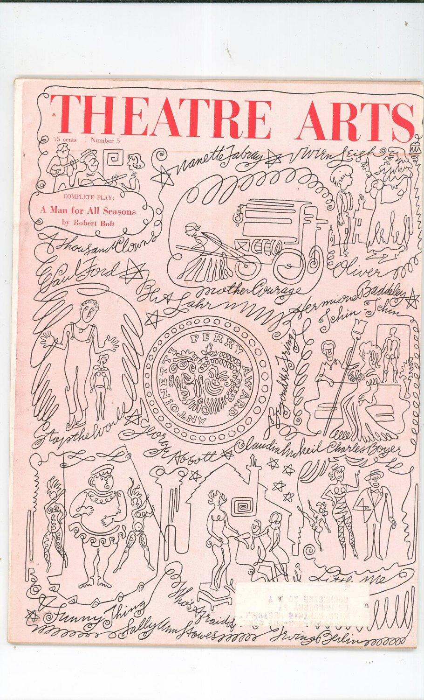 Theatre Arts Magazine May 1963 Vintage Not PDF