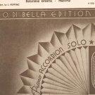 Vintage Tra Veglia E Sonno Sheet Music Returning Dreams Piano Accordion O Di Bella