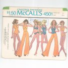 McCall's Pants Reversible Swimsuit Bikini & Top Pattern Number 4501 Size 6