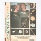 McCall's Misses & Mens T Shirt Pattern Number 5121 Size 8 With Transfers