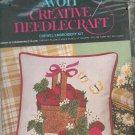 Avon Basket Of Strawberries Pillow Cover Crewel Embroidery Kit Creative Needlecraft