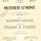 Vintage Mother O' Mine Sheet Music Kipling & Tours Chappell & Co.
