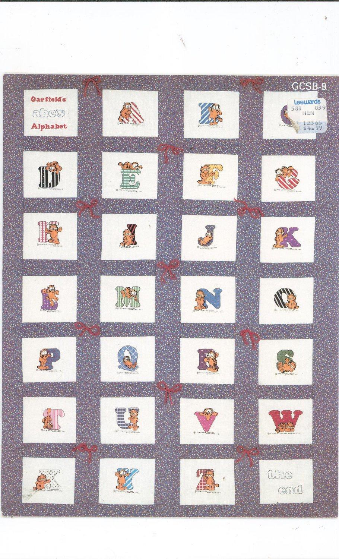 Garfield Learns His A B C's Cross Stitch Book Millcraft Inc. GCSB9