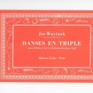 Danses En Triple by Jos Wuytack Vintage Music Book