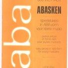 Abasken ABA by Jos Wuytack Music Book