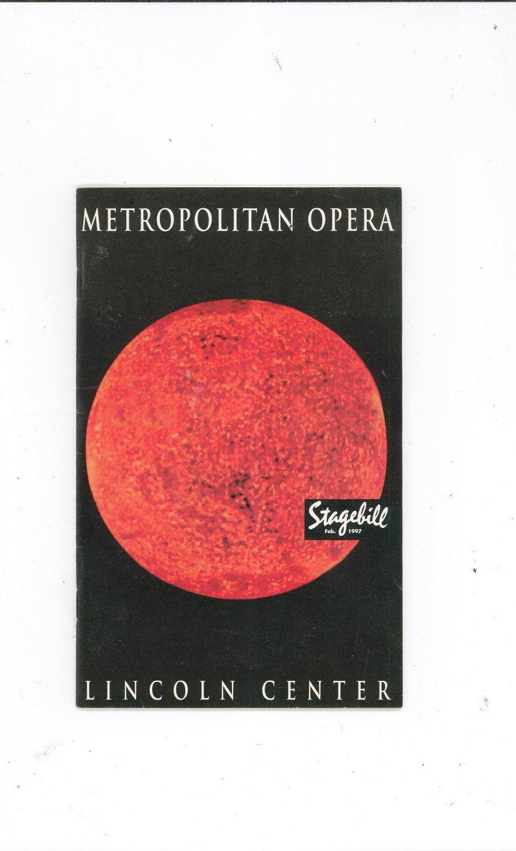 Metropolitan Opera Stagebill February 1997 R. Leoncavallo Pagliacci Souvenir Program Lincoln Center