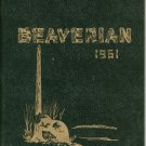 The Beaverian 1961 Year Book Yearbook Beaver River Central School Beaver Falls New York Vintage