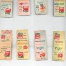 Vintage Lot Of 8 Assorted Hunt's Recipe Match Book No Duplicates