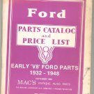 Mac's Antique Auto Parts Ford Early V8 Parts Catalog & Price List October 1986