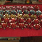 Vintage Large Lot Of Christmas Bulb Reflectors Assorted Colors