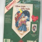 Dimensions Silent Night Holy Night Banner Craft Kit With Hanger Linda Green 8583 Cross Stitch