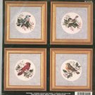 Janlynn 80-255 Four Songbirds Craft Kit Counted Cross Stitch