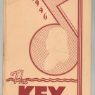 The Key 1946 Year Book Benjamin Franklin Yearbook Rochester New York High School Vintage