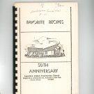 Vintage Favorite Recipes 50th Anniversary Cookbook Regional Laurelton Presbyterian Church New York