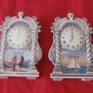 Rochester New York Clock Salt & Pepper Shakers Indian & Sailboat Souvenir