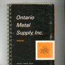 Vintage Ontario Metal Supply Catalog 1971 New York