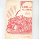 Canning and Preserving Vintage Cookbook Regional New York Rochester Gas & Electric RGE