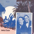 Vintage Stay Out Of The South You Want Miss Heaven On Earth Sheet Music Harold Dixon Miller Farrell