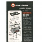 Black & Decker Workmate 79-025 Owner's Manual  Not PDF