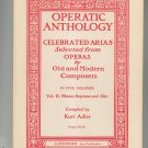 Operatic Anthology Celebrated Arias From Operas Volume II Kurt Adler Vintage Schirmer 551