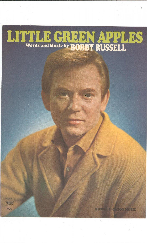 Little Green Apples Sheet Music Vintage Russell Cason