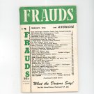 Vintage Frauds And Answers Magazine February 1953 Not PDF