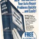 Vintage Motor's Auto Repair Manual Sales Brochure 1964