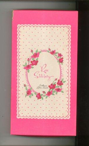 Rose Stitchery Scalloped Letter Box Set Envelopes & Paper Decorated Pratt & Austin