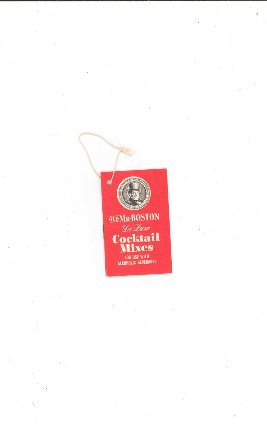 Vintage Old Mr. Boston Deluxe Cocktail Mix Hang Booklet ...