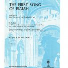 The First Song Of Isaiah Sheet Music Jack White General Orf Festival SATB