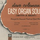 Vintage Dave Coleman Easy Organ Solos With A Beat Book 4