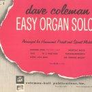 Vintage Dave Coleman Easy Organ Solos Book 1