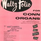 Vintage The Morris Waltz Folio For Conn Organs Bollington