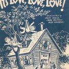 It's Love Love Love Sheet Music Vintage David Whitney Kramer Santly