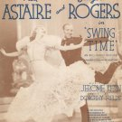 The Way You Look To Night Astaire Rogers Vintage Sheet Music Kern Fields Chappell
