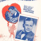 Vintage I Don't Want To Set The World On Fire Sheet Music Cherio