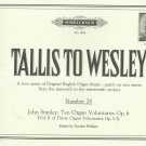 Tallis To Wesley Number 28 English Organ Music Hinrichsen Number 1034