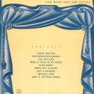 Vintage On Stage Vocal Duet Album High & Low Voices Harms