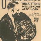 Vintage Universal's Fundamental Method French Horn Mellophone Alto Horn Pease Elementary