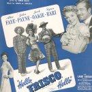 Vintage Hello Frisco Hello Sheet Music Buck Hirsch Witmark War Bonds
