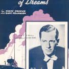 Vintage I'm Building A Sailboat of Dreams Sheet Music Friend Franklin Shapiro