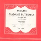 Puccini Madame Butterfly One Fine Day Gb Sheet Music Vintage Elkin Colombo Operatic Series